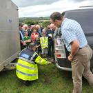 Garda Adrian Nevin during a recent farm safety talk in Co Wexford