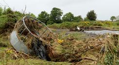 General view of the flood damage in Farmer Paddy McLoughlin's field. Kinnaglug, Carndonagh, Co. Donegal. Picture: Caroline Quinn
