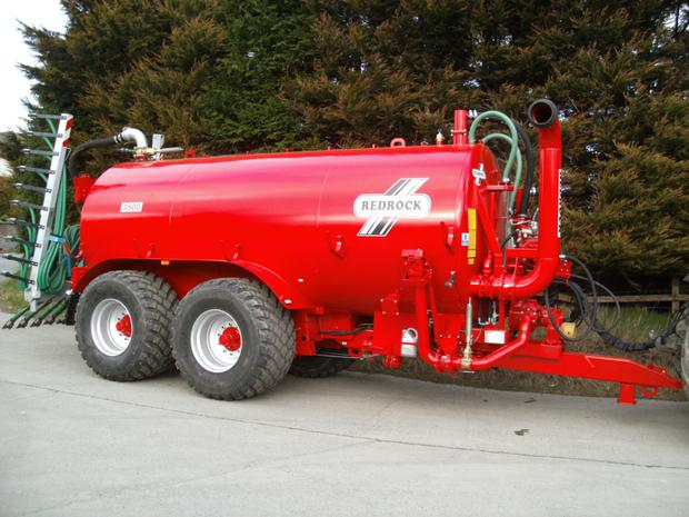Redrock's 3,500 gallon slurry tanker with trailing shoe