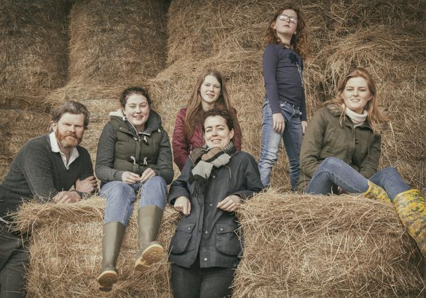 The Scully clan (l-r) Kevin, Roisin, Aoife, Jenny (front), Niamh and Sadbh