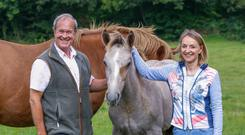 Charles Colthurst and Caroline Myers with their colt foal by Baltydaniel Romeo