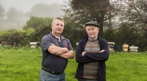 Kevin Collins and his father Jerry the family farm in Timoleague, Co Cork PHOTO: Emma Jervis Photography