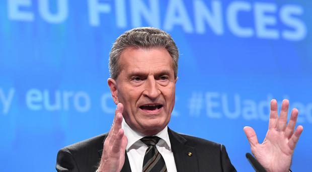 German EU Commissioner for budget and human resources Gunther Oettinger