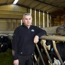 Willie John Kehoe on the family farm in Foulksmills, Co Wexford. Photo: Mary Browne