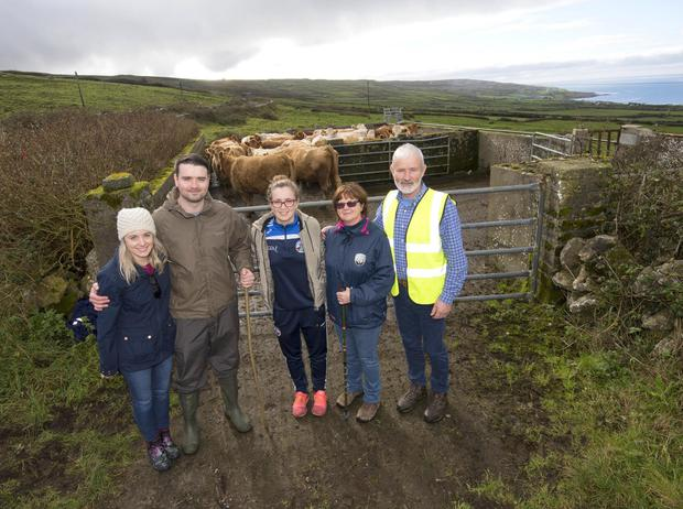 Right to left: Patsy and Anne Carrucan with their daughter Niamh, son Kevin and daughter-in-law Noirín. Photo: Kevin Byrne