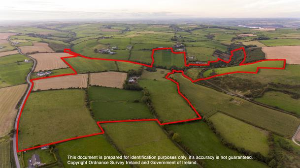 The 94ac holding is located near Ballinspittle and is a short drive from Kinsale and Bandon