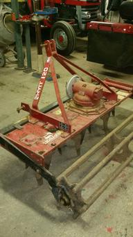 Before: The small power harrow has just finished its tenth season.
