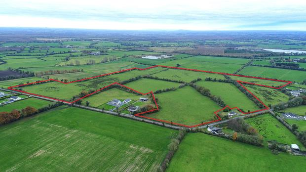 The 46ac farm in Raharney, Co Westmeath sold to an agent acting in trust for a local farmer