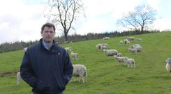 Clifford Richardson on the family farm in Carigallen, Co Leitrim