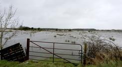 South Galway experienced heavy flooding over the weekend, adding to the fodder pressures already being experienced by farmers in the are and other parts of the west and north-west. PHOTO: Hany Marzouk