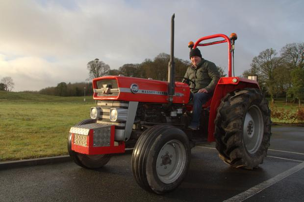Pictured is John Corley, one of the event organisers who will also be participating in the tractor drive. Photo: Martin Coleman