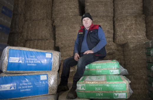 Brian McGrath with some of the products turned out on the family farm at Foulkstown, Co Kilkenny