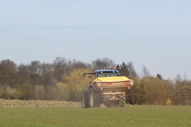 Fertiliser imported into Ireland last autumn was the highest in three years.