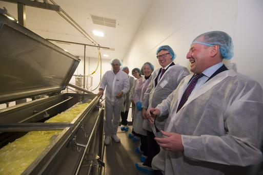 Minister Michael Creed at the re-opening of Glanbia Ireland's Wexford cheese plant. Photo: Patrick Browne