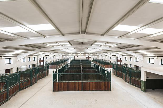 The custom-built equestrian facilities include 31 stables