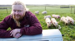 Clive Clarke has built up the Ashgate Farm business from the family's holding in Dunkerrin, Co Offaly. Photo: Kevin Byrne