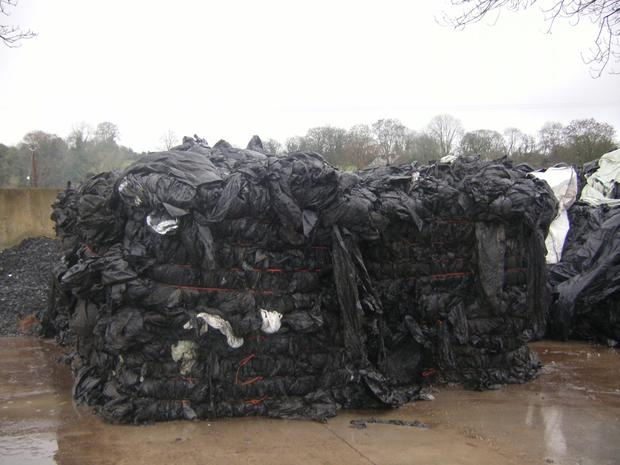 Farm plastics baled for recycling by the Irish Farm Film Producers Group (IFFPG) which operated 235 collections services last year