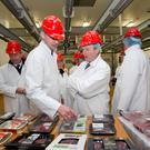 Mark Goodman, commercial director (international) ABP Food Group with Former Taoiseach Enda Kenny at ABP Food Group facilities in Cahir, Co Tipperary. Photo: Chris Bellew/Fennell's