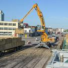 Fodder being unloaded at the Port of Cork after the last crisis in 2013