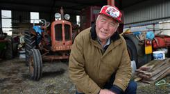Farmer John Flynn from Williamstown, County Galway on his farm. Photo: Ray Ryan