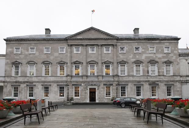 Protest took place outside Leinster House today