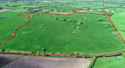 The 72ac holding is located near Delvin in Co Westmeath and is suitable for all types of farming