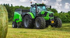 Three Deutz tractors were in action