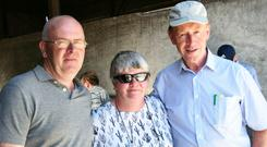 Liam and Catherine Millierick with Teagasc OAD advisor Brian Hilliard