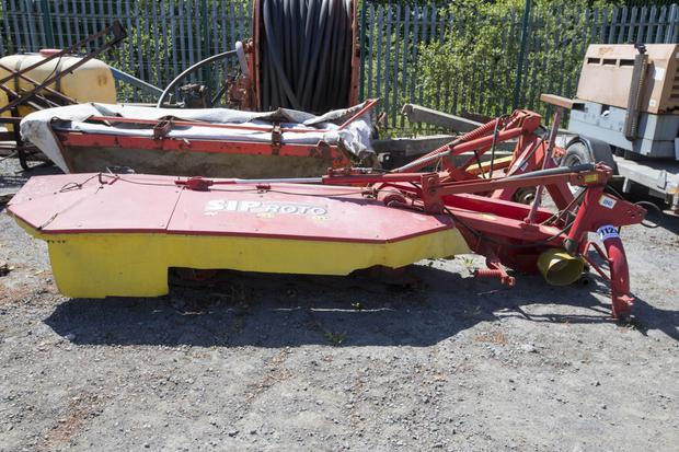 A 2007-registered SIP Roto 215DH rear mounted 2.15m silage mower, provisional sale price €1,200 + VAT