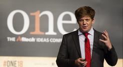 Allflex's Ian Lahiffe speaking at Alltech's One Conference in Kentucky