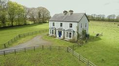 Cloonrane House with 48ac of organic land, a holiday cottage and a farmyard on the shores of Finlough Lake near Strokestown in Co Roscommon sold for over €350,000