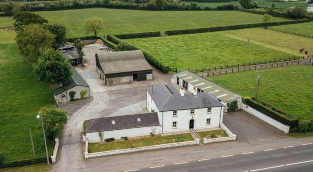 An aerial view of the property, which is just outside Monasterevin