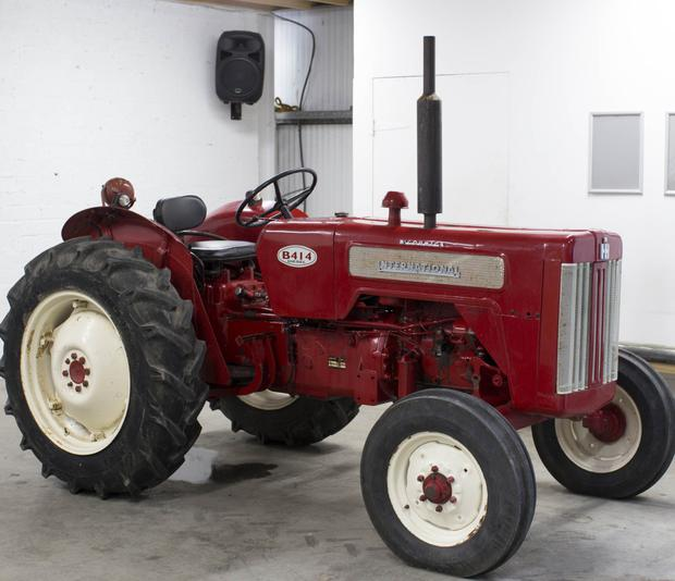 This vintage 1966 McCormick International B414 2WD tractor that was previously fully restored sold for €2,500.