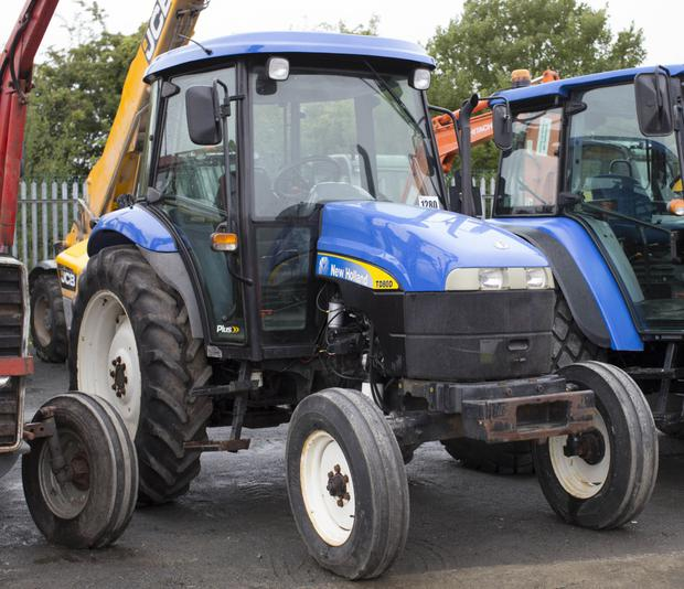 2008-registered New Holland TD80D 2WD tractor with 2,726 hours on the clock