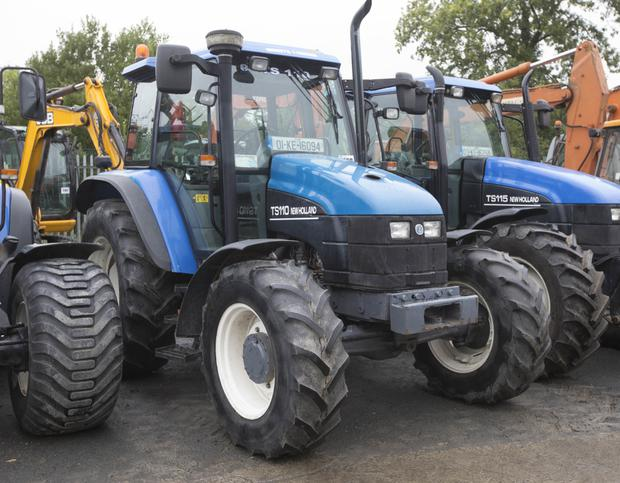 2001-registered New Holland TS110 4WD tractor 110hp with 6,500 hours on the clock