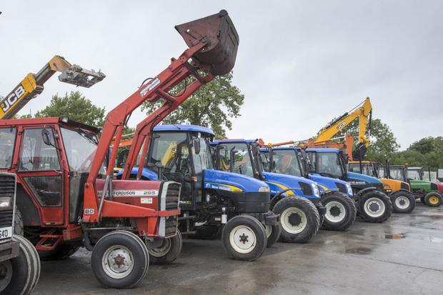 A selection of tractors up for auction at Naas