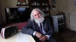 John Groarke pictured in his home near Tulsk, Co Roscommon. Photo: Brian Farrell