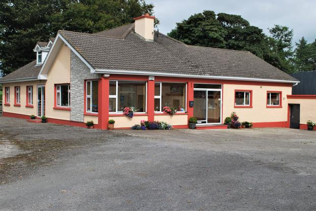 The 105ac farm comes with extensive farmyard facilities and (pictured) a residence which was one of the country's first farmhouse B&Bs.