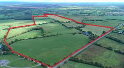 An aerial view of the property on the outskirts of Kinnegad