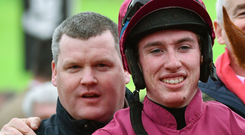 Jack Kennedy with trainer Gordon Elliott. Photo: Seb Daly/ Sportsfile