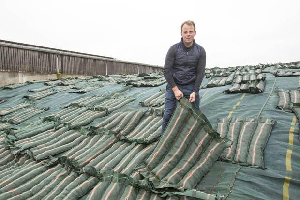 The green silage matts that are replacing the tyres on John Phelan's farm are called
