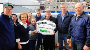 Charles Gallagher IHFA C.E. Kathleen Watson IHFA outgoing President, Kate Maunsell, Dan Maunsell, John Walsh Kerry Club Chairman, Michael Maunsell, Noreen, Ellie and TJ Maunsell.