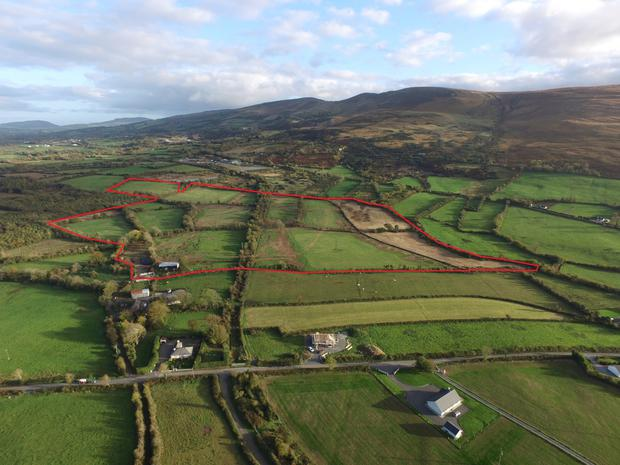 An aerial view of the 56ac holding at Garrymore
