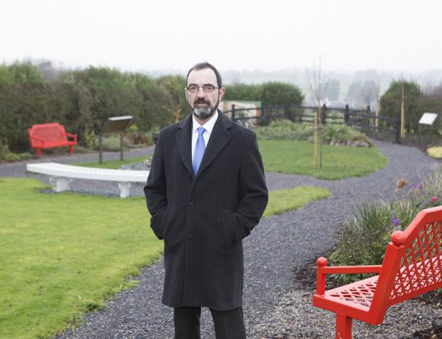 Mike Sweeney, President of Muintir na Tíre at the Educational Remembrance Gardens set up following the closure of Kilross National School in Tipperary. Photo: Liam Burke/Press 22