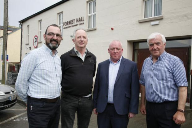 Mike Sweeney, Patsy McLean, Niall Garvey and Sean Finn at a Muintir na Tíre regional meeting in Mitchelstown, Co Cork