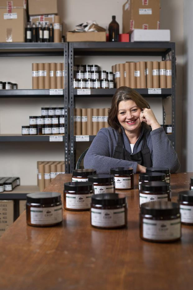 Lucy Hagerty in her luxury perfumery and scented candle business in Belgooly, near Kinsale. Photo: Clare Keogh