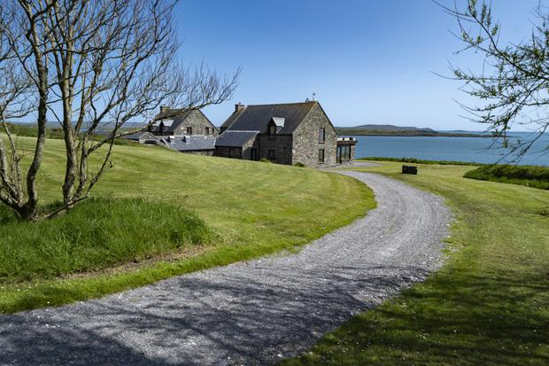 The main house has panoramic views of nearby Cape Clear Island and Fastnet Rock Lighthouse