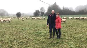 John Bell and his wife Marese on their farm in Castletowngeoghegan, Co Westmeath
