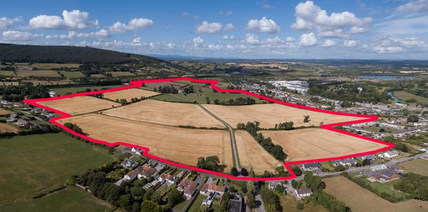 An aerial view of the 102ac Bengurrah House property near Cahir which made €2.86m or €26,000/ac
