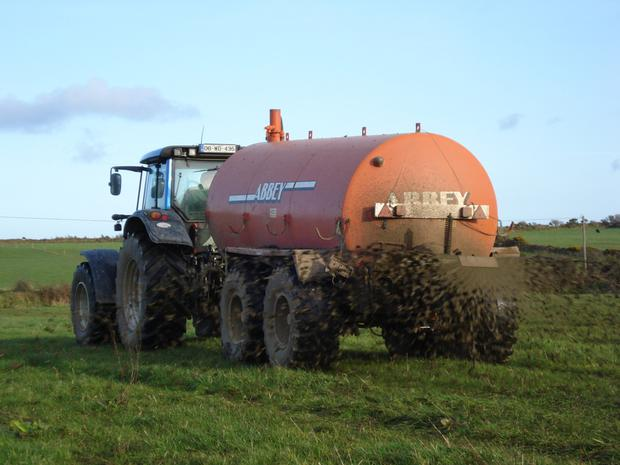 Slurry spreading is set to begin in Zone A counties from this Sunday, 13 January